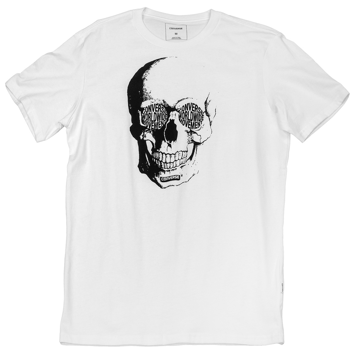 Футболка мужская Converse Van De Wall Skull Tee, цвет: белый. 10004721102. Размер XL (52) футболка converse футболка amt streaming color skull tee