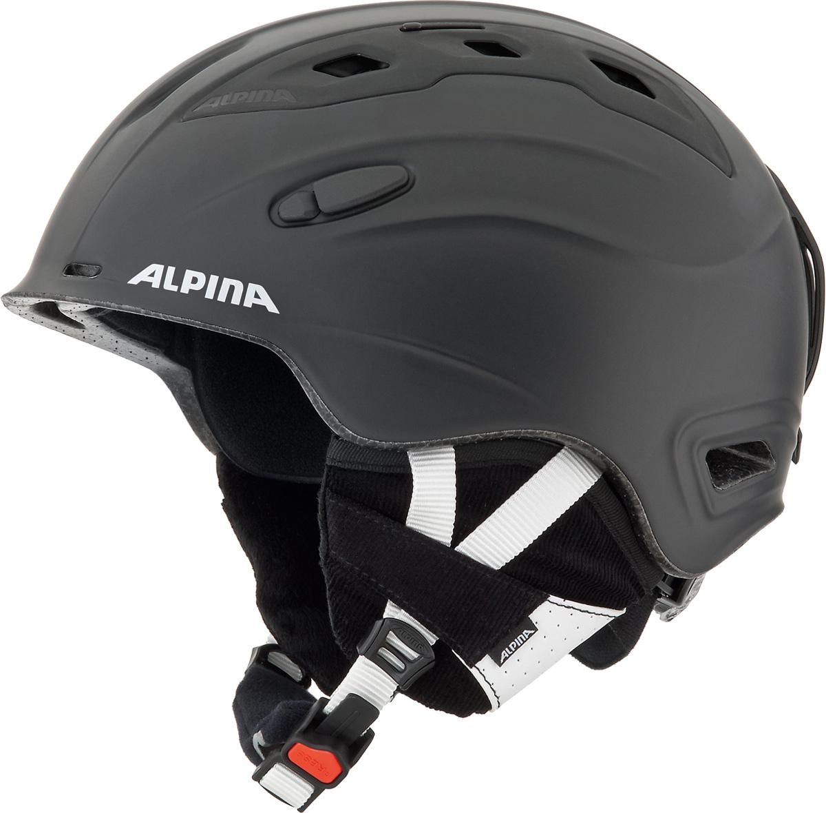 Шлем горнолыжный Alpina Snow Mythos, цвет: черный. A9062_31. Размер 58-61 бензопила alpina серия black a 4500 18
