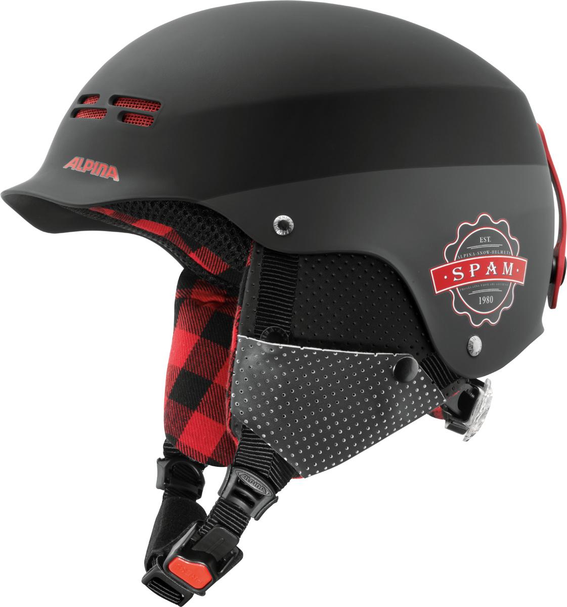 Шлем горнолыжный Alpina SPAM CAP JR black-lumberjack matt. Размер 51-54A9064_31Версия знаменитого шлема, созданная специально для детей. Обладает теми же характеристиками, что и старшая модель.Технологии:HARD SHELL - сочетание ударопрочного внешней оболочки (ABS пластик или поликарбонат) и утепляющей внутренней оболочки (EPS) гарантирует максимальную безопасность.RUN SYSTEM ERGO SNOW – гибкая система настройки шлема, оснащённая удобной ручкой, оснащенная двумя дополнительными подушками-уплотнителями для сокращения давления.VENTING SYSTEM – особые вентиляционные отверстия для отведения излишнего тепла и поддержания оптимальной температуры.REMOVABLE EARPADS - съемные амбушюры добавляют чувства свободы во время катания в теплую погоду, не в ущерб безопасности. При падении температуры, амбушюры легко устанавливаются обратно на шлем.