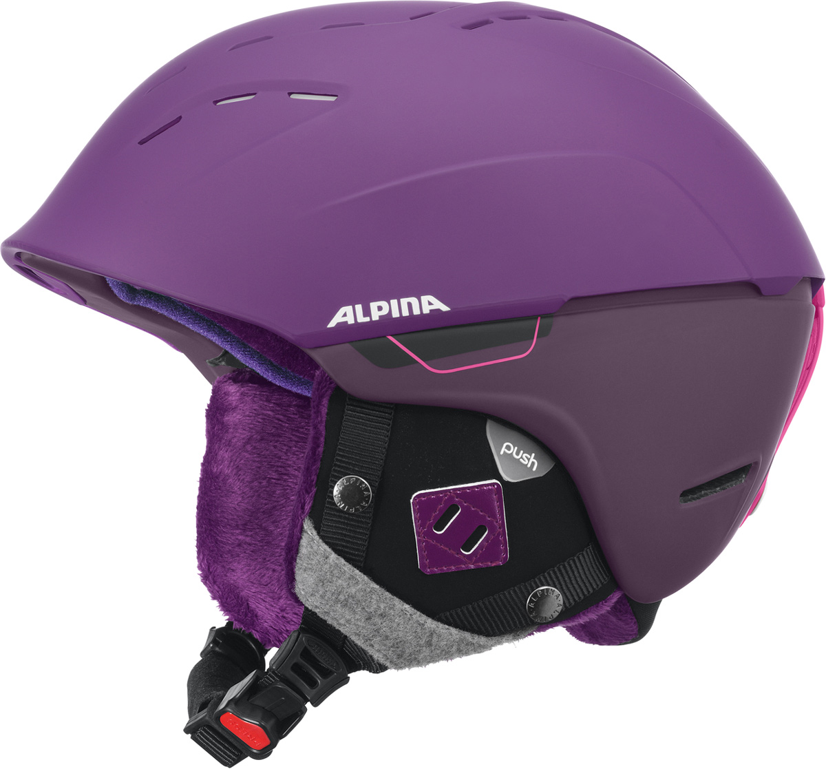 Шлем горнолыжный Alpina SPICE deep-violet matt. Размер 52-56A9067_50Благодаря применяемым технологиям, этот шлем исключительно удобен при ношении и имеет отличную вентиляцию. Размеры: 52-61 см. Технологии:Hybrid - Нижняя часть шлема состоит из легкого Inmold, что обеспечивает хорошую амортизацию. Верхняя часть - супер-прочный Hardshell.EDGE PROTECT – усиленная нижняя часть шлема, выполненная по технологии Inmold. Дополнительная защита при боковых ударах. RUN SYSTEM – простая система настройки шлема, позволяющая добиться надежной фиксации.AIRSTREAM CONTROL – регулируемые воздушные клапана для полного контроля внутренней вентиляции. REMOVABLE EARPADS - съемные амбушюры добавляют чувства свободы во время катания в теплую погоду, не в ущерб безопасности. При падении температуры, амбушюры легко устанавливаются обратно на шлем.CHANGEABLE INTERIOR – съемная внутренняя часть. Допускается стирка в теплой мыльной воде.NECKWARMER – дополнительное утепление шеи. Изготовлено из мягкого флиса.3D FIT – ремень, позволяющий регулироваться затылочную часть шлема. Пять позиций позволят настроить идеальную посадку.