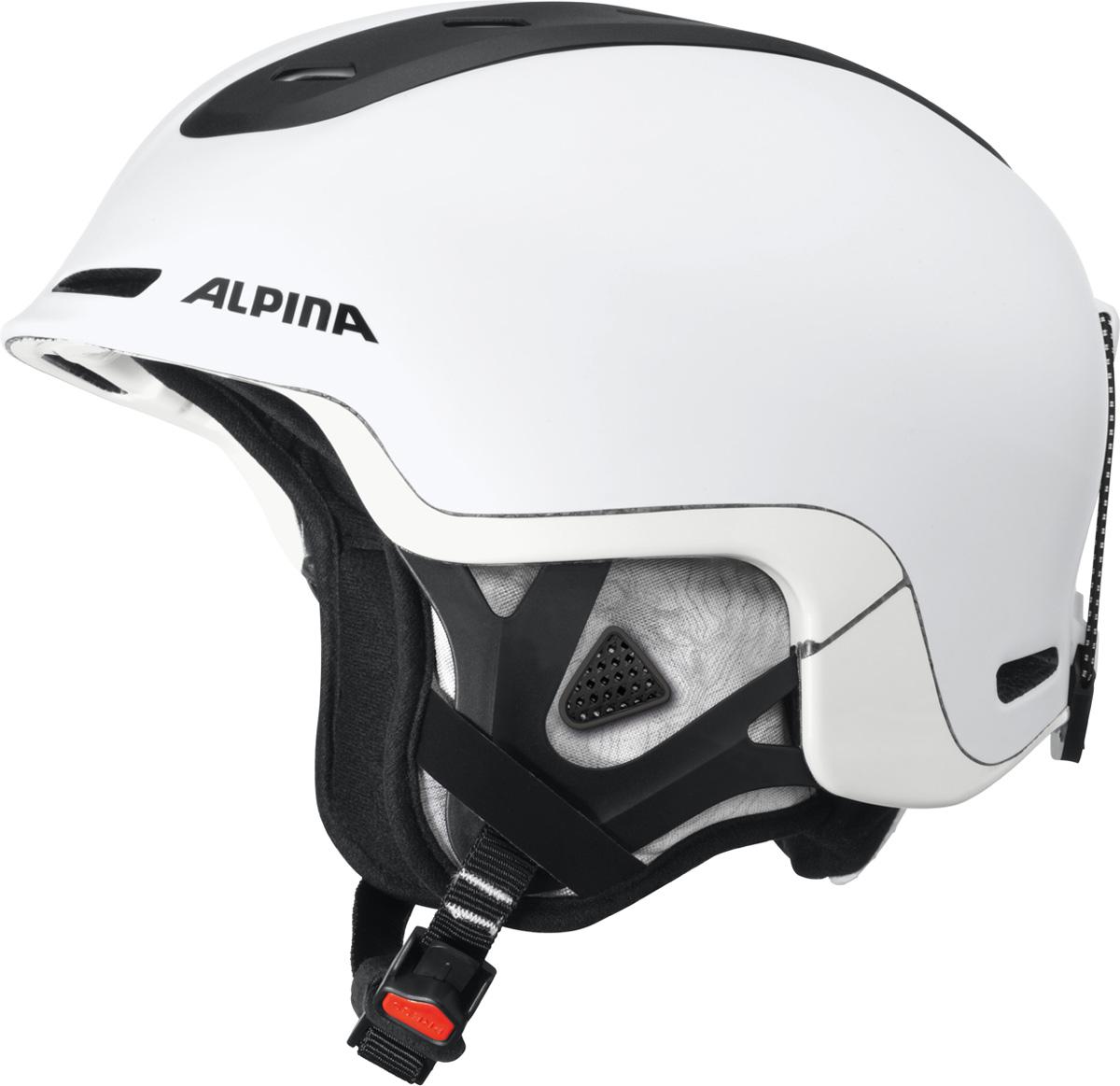 """Шлем горнолыжный Alpina """"Spine"""", цвет: белый. A9088_10. Размер 52-56"""
