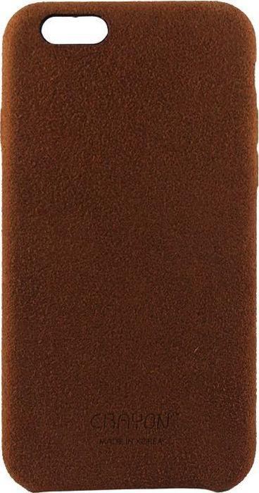 Crayon Generic Slim Case, Dark Brown чехол для iPhone 6/6SCRN-GSCSIP6-tbrЧехол изготовлен из термопластичного полиуретана (ТПУ) - материала, который не подвержен замерзанию и резким перепадам температур. То есть телефон в чехле из ТПУ не тормозит на морозе. ТПУ не подвержен деформации, устойчив к разрыву и не проводит электрический ток. Чехол из ТПУ не притягивает пыль, устойчив к царапинам и другим механическим повреждениям, обладает противоударными свойствами. Чехол не утолщает устройство, обеспечивая легкий доступ ко всем функциональным клавишам телефона. Внешняя поверхность чехла выполнена из натуральной замши. Необычно, стильно, надежно.