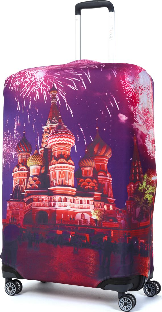 Чехол для чемодана Mettle Moscow, размер L (высота чемодана: 75-82 см) парктроник parkmaster 8 fj 27 black