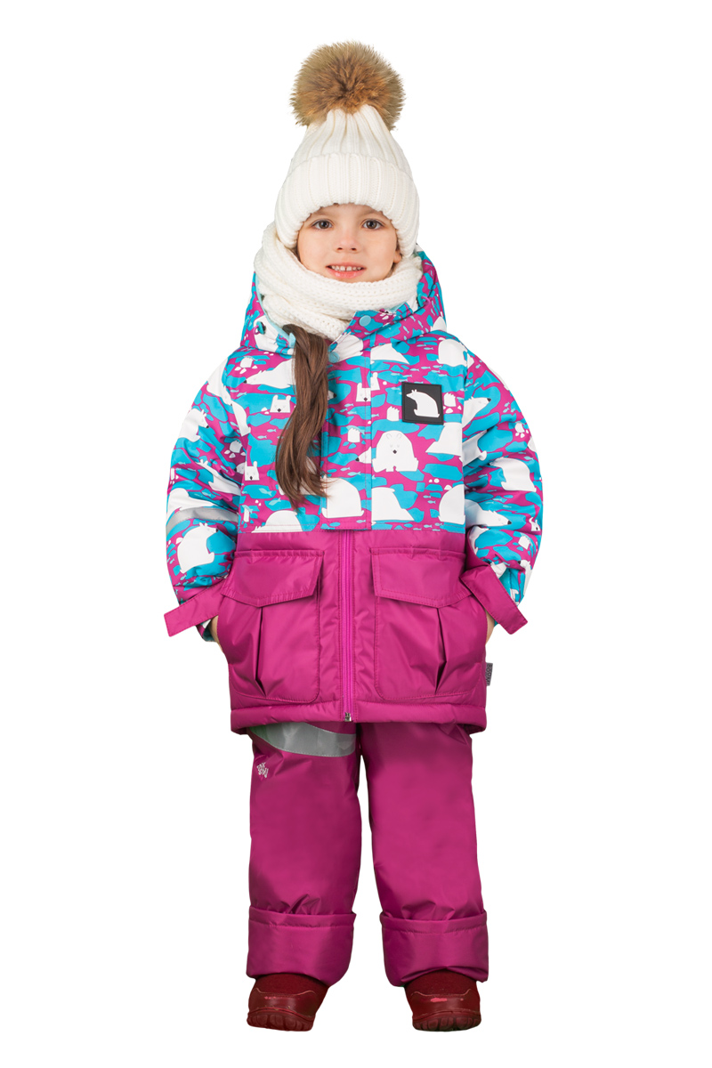 Комплект верхней одежды для девочки Boom!: куртка, брюки, цвет: розовый. 70466_BOG_вар.2. Размер 86, 1,5-2 года70466_BOG_вар.2Комплект для девочки Boom! включает в себя куртку и брюки. Куртка с длинными рукавами и капюшоном выполнена из прочного полиэстера и имеет подкладку из полиэстера и флиса. Модель застегивается на застежку-молнию спереди и кнопки. Теплые брюки на талии дополнены широкой эластичной резинкой. Комплект дополнен светоотражающими элементами.