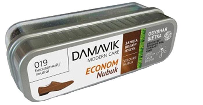 Щетка для обуви Damavik Econom Nubuk, без пропитки, в футляре9700Придает обуви первоначальный внешний вид. Легко очищает от грязи и пыли. Сохраняет и восстанавливает бархатистую структуру нубука, велюра и замши.