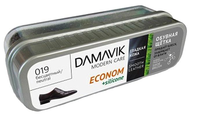 Щетка для обуви Damavik Econom, с пропиткой, футляре, цвет: бесцветный9710Щетка Damavik Econom очищает обувь от пыли и загрязнений. Легко создает блеск, мгновенно придавая обуви обновленный вид. Защищает обувь от влаги. Оберегает кожу от старения и образования трещин.