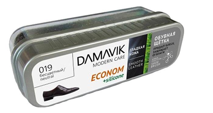 Щетка для обуви Damavik Econom, с пропиткой, в футляре, цвет: черный9720Щетка Damavik Econom очищает обувь от пыли и загрязнений. Легко создает блеск, мгновенно придавая обуви обновленный вид. Защищает обувь от влаги. Оберегает кожу от старения и образования трещин.