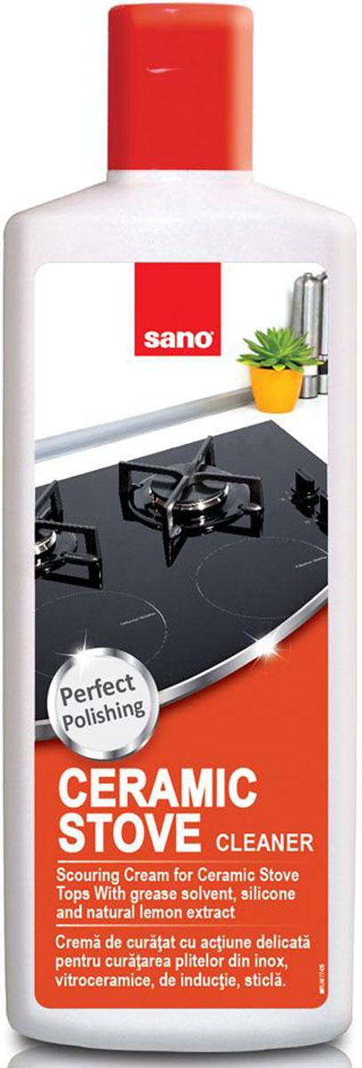 Средство для чистки и ухода за стеклокерамическими плитами Sano Ceramic Stove Tops, 300 мл600004Средство Sano Ceramic Stove Tops - крем для нежной и эффективной чистки, полировки и защиты поверхностикерамических и обычных плит, а также плит из нержавеющей стали, хрома и никеля. Товар сертифицирован.Как выбрать качественную бытовую химию, безопасную дляприроды и людей. Статья OZON Гид