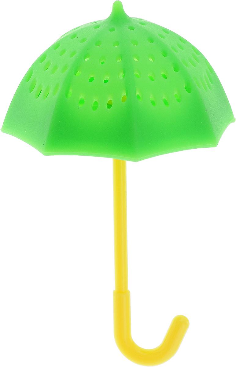 Ситечко для заваривания чая Marmiton Зонтик, цвет: зеленый, 9,5 х 5,5 см16178_зеленыйСитечко Marmiton Зонтик выполнено из силикона в виде зонтика. Изделие предназначено для заваривания чая. Материал устойчив к фруктовым кислотам, к воздействию низких и высоких температур.Не взаимодействует с продуктами питания и не впитывает запахи. Можно мыть и сушить в посудомоечной машине.