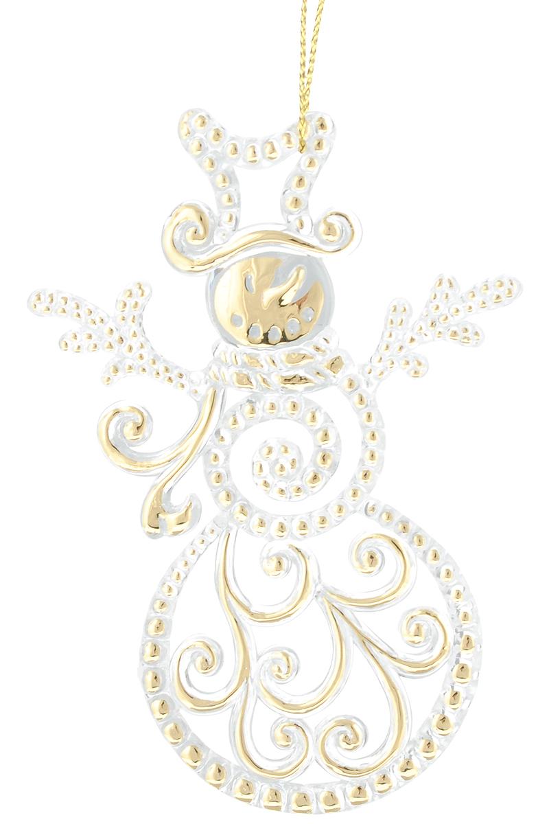 Украшение новогоднее елочное Magic Time Снеговик, цвет: прозрачный, золотой, высота 9,6 см75977_снеговикНовогоднее подвесное украшение Magic Time Снеговик изготовлено из качественного полистирола. Изделие дополнено золотой росписью, подвешивается с помощью небольшой веревочки Елочная игрушка - символ Нового года. Она несет в себе волшебство и красоту праздника. Создайте в своем доме атмосферу веселья и радости, украшая всей семьей новогоднюю елку нарядными игрушками, которые будут из года в год накапливать теплоту воспоминаний.Размер украшения: 9,6 х 6,7 см.