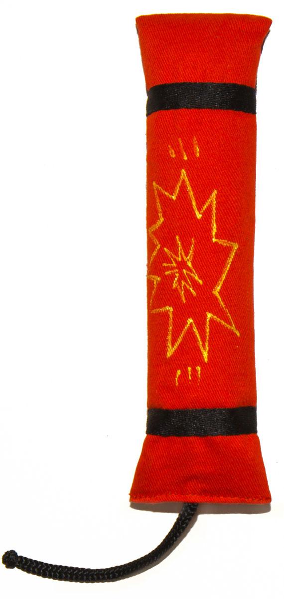 Игрушка для кошек Smart Textile Динамит, с шуршащим элементом, цвет: красный, 18 см игрушка для кошек smart textile мини конфетка с кошачьей мятой цвет фиолетовый