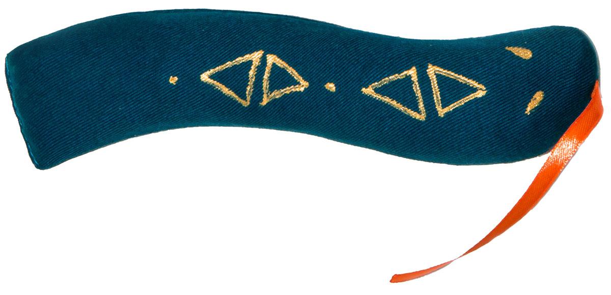 Игрушка для кошек Smart Textile Змейка, с шуршащим элементом, цвет: синий, 18 смGC662Оригинальная игрушка Smart Textile Змейка со 100% натуральной кошачьей мятой дополнена специальным шуршащим элементом, что позволяет задействовать сразу 2 чувства четвероногого охотника: обоняние и слух - шуршащий элемент пробуждает инстинкт настоящего охотника!