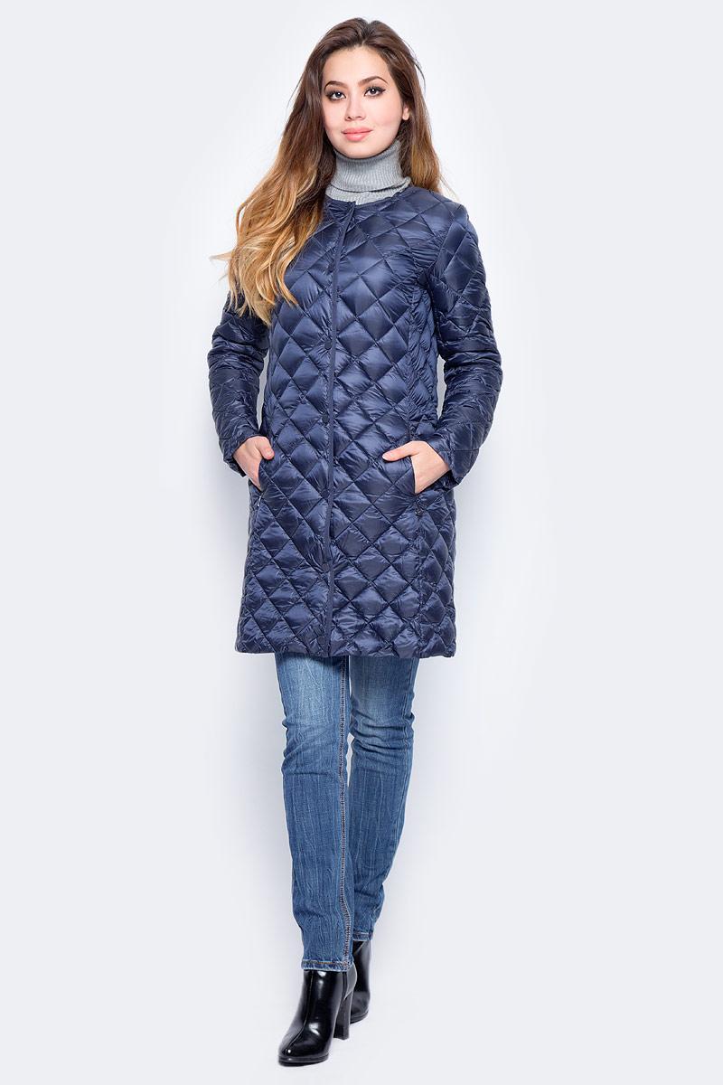 Пуховик женский Baon, цвет: синий. B017702_Dark Navy. Размер L (48) пуховик женский baon цвет синий b007536