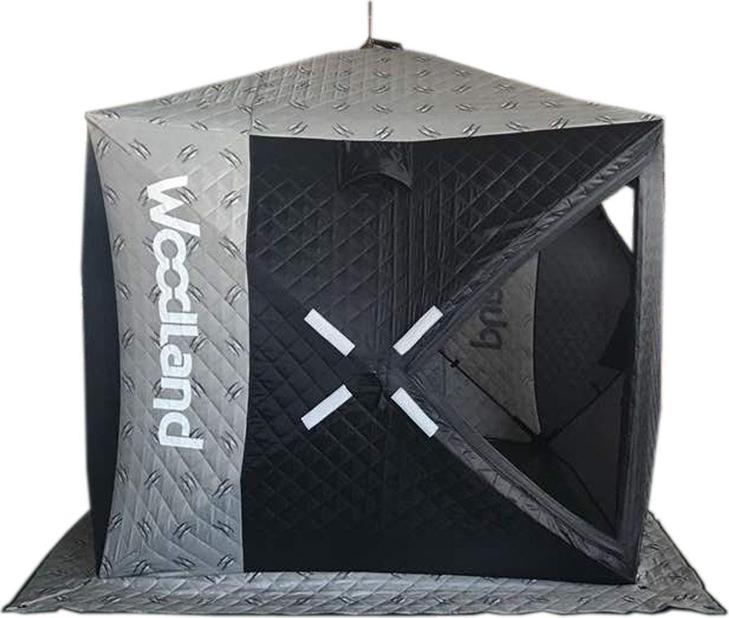 Палатка зимняя Woodland Ultra, 5-местная, цвет: черный, 200 х 200 х 200 см cпальный мешок woodland envelope 200