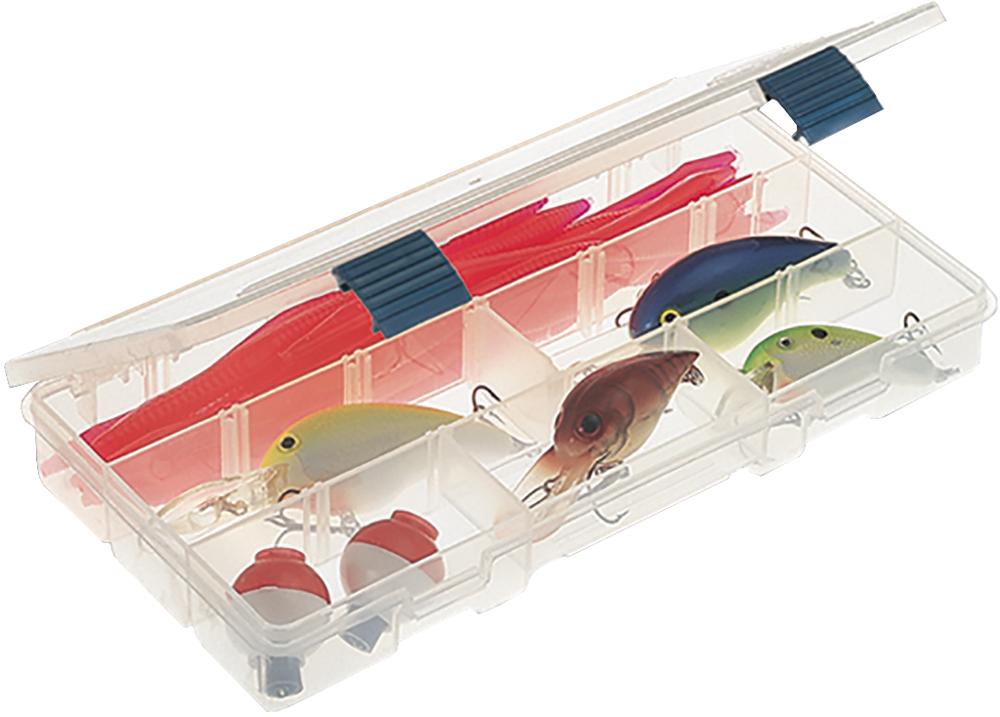 Коробка рыболовная Plano, для приманок, 5-9 отсеков2-3500-00Plano 2-3500-00 - коробка с изменяемыми ячейками. С помощью четырех перегородок можно создать от 5 до 9 отсеков. Удобный промежуточный размер. Подходит для многих систем Plano. Прозрачный пластик позволит безошибочно и быстро найти необходимый предмет. • Коробка ProLatch с изменяемыми ячейками• С помощью четырех разделителей можно создать от 5 до 9 ячеек• Подходит ко многим системам Plano hard 7• Размеры 232х127х31мм