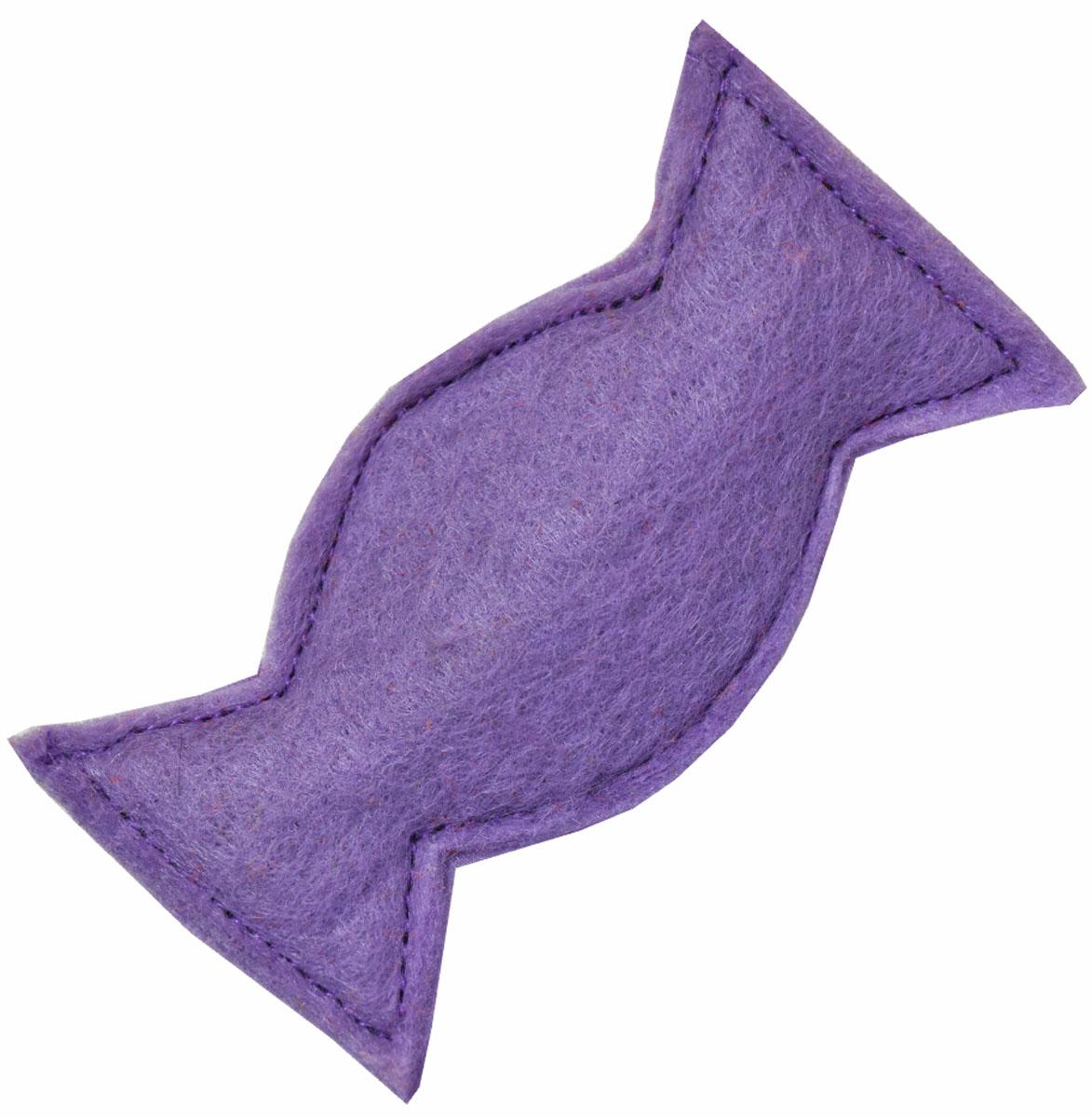 Игрушка для кошек Smart Textile Мини Конфетка, с кошачьей мятой, цвет: фиолетовыйGC416Игрушка для кошек Smart Textile Мини Конфетка изготовлена из фетра и выполнена в виде конфеты. Наполнение игрушки состоит из 100% натуральной кошачьей мяты, которая заинтересует и успокоит питомца, тем самым даст возможность комфортно перенести дорогу или переезд.Миниатюрный размер игрушки позволит взять ее в любую поездку. Размеры: 8,5 х 4 х 1 см.