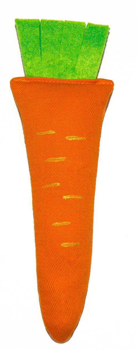 Игрушка для кошек Smart Textile Морковка, с шуршащим элементом, цвет: оранжевый, 18 смGC709Игрушка для кошек Smart Textile Морковка со 100% натуральной кошачьей мятой дополнена специальным шуршащим элементом, что позволяет задействовать сразу 2 чувства четвероногого охотника: обоняние - 100% натуральная кошачья мята привлекает внимание семейства кошачьих, и слух - шуршащий элемент пробуждает инстинкт настоящего охотника!