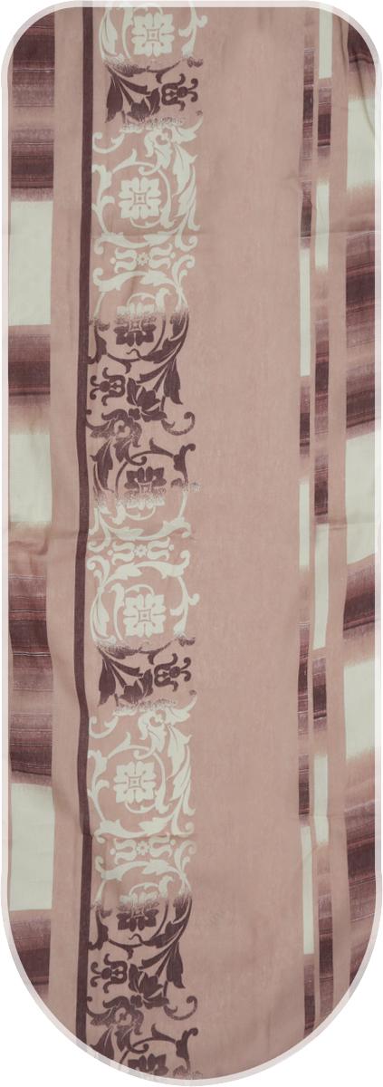 Чехол для гладильной доски Detalle, универсальный, цвет: бежевый, белый, коричневый, 125 х 47 смЕ1301_бежевый, белый, коричневыйЧехол для гладильной доски Detalle, выполненный из хлопка с подкладкой из мягкоговойлокообразного полотна (ПЭФ), предназначен для защиты или замены изношенного покрытиягладильной доски. Чехол снабжен стягивающим шнуром, при помощи которого вы легкоотрегулируете оптимальное натяжение чехла и зафиксируете его на рабочей поверхностигладильной доски. Из войлокообразного полотна вы можете вырезать подкладку любого размера, подходящуюименно для вашей доски. Этот качественный чехол обеспечит вам легкое глажение. Он предотвратит образование блескаи отпечатков металлической сетки гладильной доски на одежде. Войлокообразное полотнопрактично и долговечно в использовании. Размер чехла: 125 см x 47 см. Максимальный размер доски: 120 см х 42 см. Размер войлочного полотна: 130 см х 52 см.