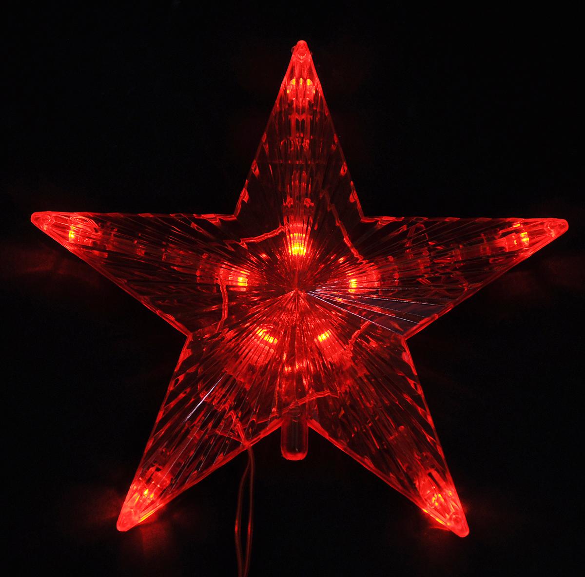 Верхушка на елку Vegas Звезда, светодиодная, высота 15 см55097Верхушка Vegas Звезда, выполненная из пластика, прекрасно подойдет для декора новогодней елки. Изделие создаст особое настроение новогоднего торжества. Украшение светится красными огнями. Изделие работает от сети 220 v.Верхушка на елку - одно из главных новогодних украшений лесной красавицы. Она принесет в ваш дом ни с чем не сравнимое ощущение праздника!Степень защиты: IP 20.