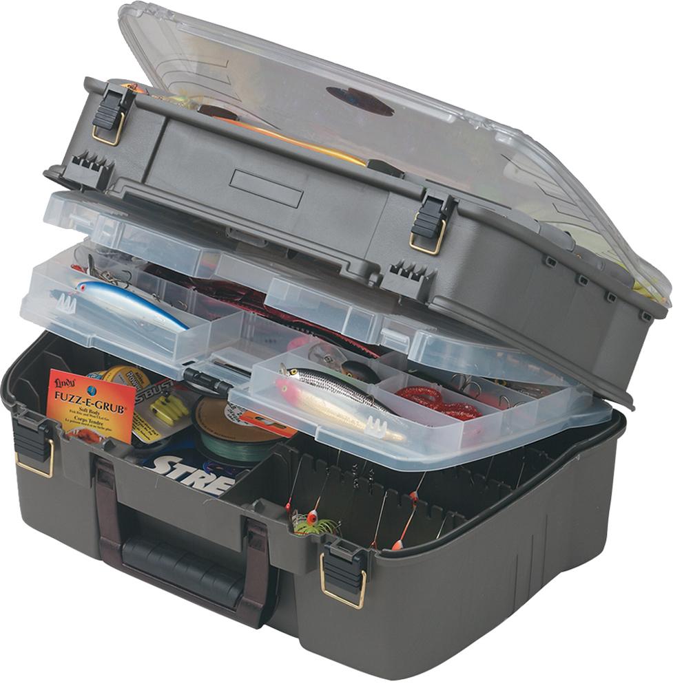 Ящик рыболовный Plano, с 4-х уровневой системой, для приманок и аксессуаров, цвет: серый1444-02Ящик Plano- изделие предназначено для длительного хранения и транспортировки рыболовных снастей (в том числе, и для силиконовых приманок). Ящик изготовлен из высокопрочного легкого и безопасного пластического материала, фурнитура из нержавеющей латуни. Четырехуровневая конструкция для комфортного хранения снастей. Четырехуровневая система; На дне большое отделение для крупных предметов и блоков для спиннербейтов; Под верхним отделением - уникальный промежуточный уровень со своей крышкой; Под верхней дымчатой крышкой DuraView - большое отделение с разделителями; Толстая рукоятка для удобства транспортировки; Размер: 470 х 279 х 216 мм.