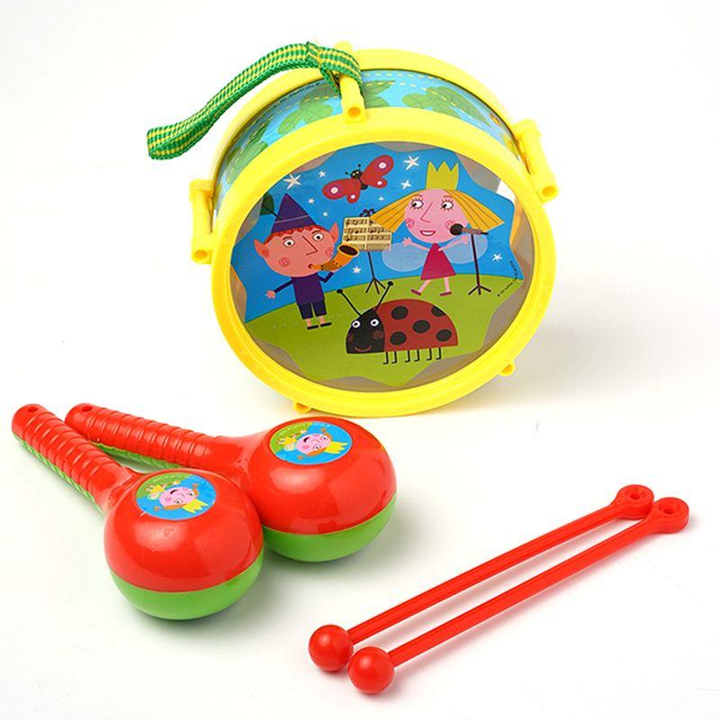 Бен и Холли Набор музыкальных инструментов Барабан и маракасы малибу игрушки mali игрушки развивающие игрушки fun барабан ролл барабан ударил музыкальных инструментов детские игрушки t3002