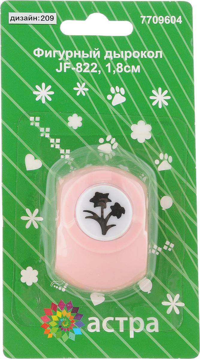 Дырокол фигурный Астра Двойной цветок, цвет: розовый. JF-8227709604_209_розовыйДырокол Астра Двойной цветок поможет вам легко, просто и аккуратно вырезать много одинаковых мелких фигурок. Режущие части компостера закрыты пластмассовым корпусом, что обеспечивает безопасность для детей. Можно использовать вырезанные мотивы как конфетти или для наклеивания. Дырокол подходит для разных техник: декупажа, скрапбукинга, декорирования.Размер дырокола: 4 х 3 х 4 см.Диаметр вырезанной фигурки: 1,5 см.