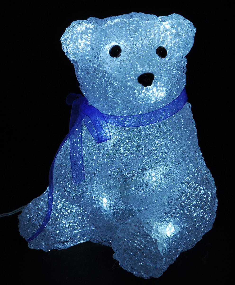 Светильник декоративный Vegas Медвежонок, светодиодный, 16 ламп, высота 17,5 см55101Декоративный светильник Vegas Медвежонок, выполненный из пластика в виде милого мишки, предназначен для создания праздничной атмосферы. Применяется как для внешнего, так и для внутреннего декорирования. Изделие создаст особое настроение новогоднего торжества. Украшение светится холодным светом и работает от сети 220 v.Декоративный светильник Vegas Медвежонок принесет в ваш дом ни с чем не сравнимое ощущение праздника!Размер светильника: 14 х 14 х 17,5 см.Степень защиты: IP 44.Мощность: 0,96 W.