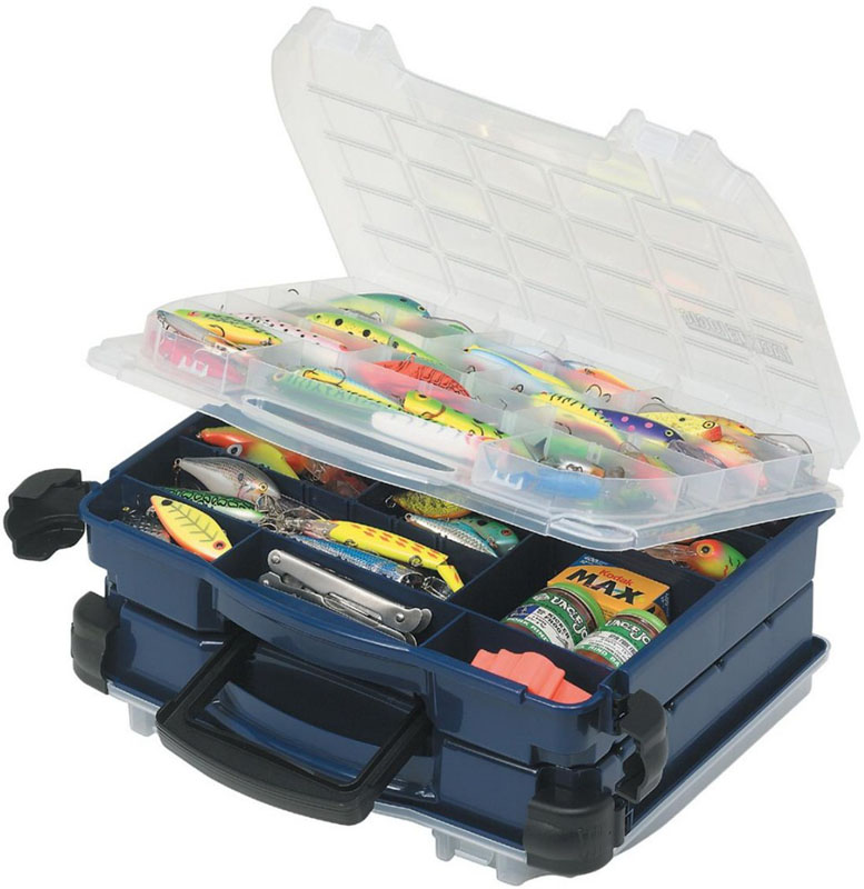 Ящик рыболовный Plano, двухуровневый, для приманок и аксессуаров, цвет: зеленый. 3952-10