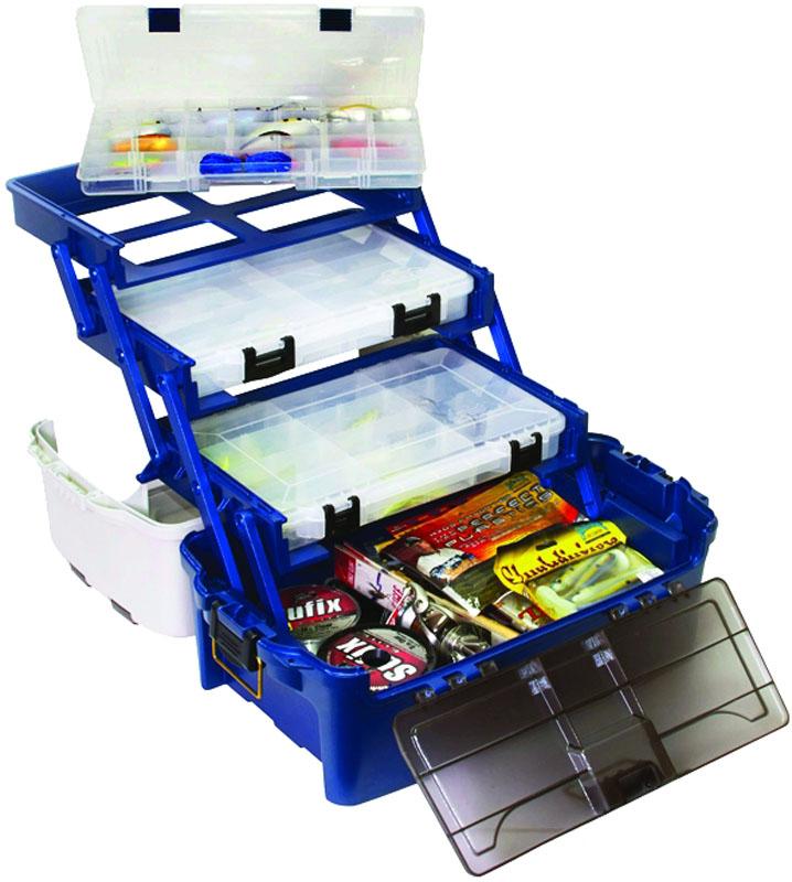 Ящик рыболовный Plano, с 3-х уровневой системой хранения приманок6133-06Вместительный четырехуровневый рыболовный ящик предназначен для хранения и транспортировки рыболовных снастей, приманок, инструмента и прочих принадлежностей для рыбалки. Поднимающиеся вверх три поддона для мелких предметов с многочисленными отделениями. С помощью входящих в комплект сменных перегородок количество отсеков ящика для приманок Plano. Вы можете изменять с 27-ми до 37-ми. Вместительная нижняя часть (отделение) для хранения крупных предметов (катушки, инструменты, фонарики, органайзеры Plano и т. п.) Ящик для рыбалки изготовлен из ударопрочного пластика, устойчивого к воздействию силикона (силиконовые приманки). Габаритные размеры 489 мм (19.25) Х 254 мм (10) Х 248 мм (9.75) . Вес 2,08 кг.