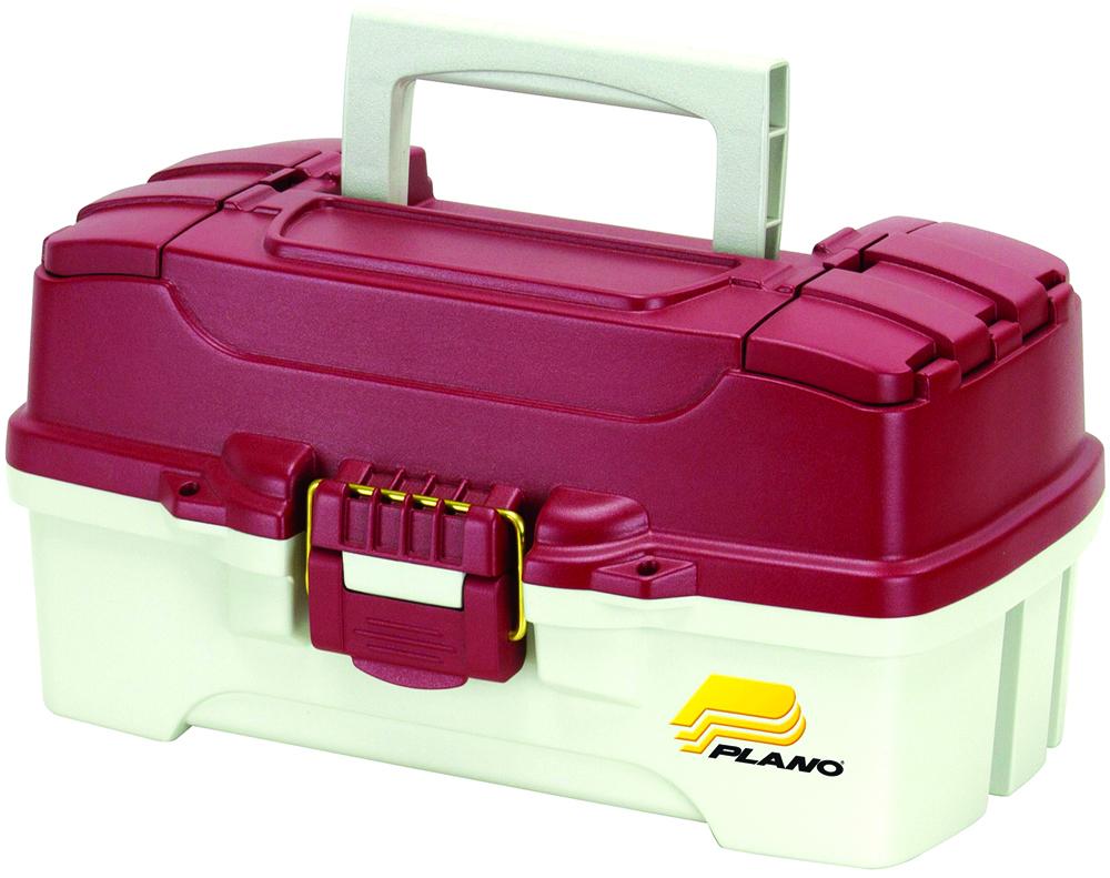 Ящик рыболовный Plano, с одноуровневой системой хранения приманок и 2 боковыми отсеками на крышке
