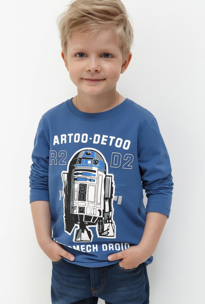 Лонгслив для мальчика Acoola Armidale, цвет: синий. 20120100104. Размер 9820120100104Лонгслив для мальчика Acoola выполнен из натурального хлопка. Модель с круглым вырезом горловины и длинными рукавами.