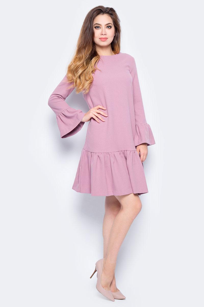 Платье женское Baon, цвет: розовый. B457547_Old Rose. Размер L (48)B457547_Old Rose