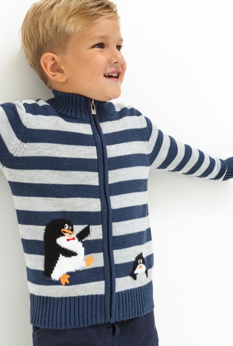 Жакет для мальчика Acoola Lautrec, цвет: разноцветный. 20120130104. Размер 9220120130104Жакет для мальчика Acoola выполнен из качественного материала. Модель с длинными рукавами застёгивается на молнию.