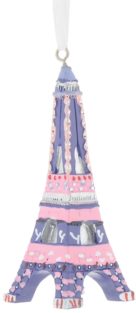 Украшение новогоднее подвесное Magic Time Эйфелева Башня. 7555075550Новогоднее украшение Эйфелева Башня выполнено из полирезина. С помощью специальной текстильной петельки украшение можно повесить в любом понравившемся вам месте. Но, конечно, удачнее всего такая игрушка будет смотреться на праздничной елке.Размер: 3 x 3 x 9 см.