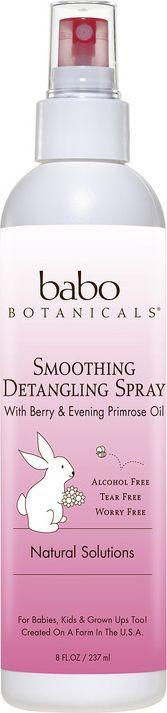 Babo Botanicals Мгновенный спрей для гладкости волос Ягоды и примула, 240 млBabo13Волшебный легкий спрей для гладкости волос