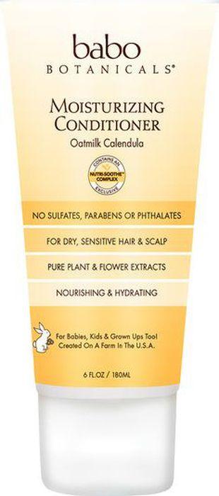 Babo Botanicals Увлажняющий кондиционер Овсяное молоко и календула, 180 млBabo5Нежная забота и уход за детскими волосами