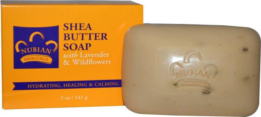 Nubian Heritage Мыло с маслом ши, ароматом лаванды и полевых цветов, 141 гN5Очищающее мыло с лавандой и полевыми цветами нежно полирует кожу, обладает ароматом, который успокаивает и возвышает чувства.