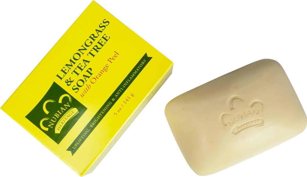 Nubian Heritage Мыло лемонграсс с экстрактом чайного дерева и апельсиновой цедрой, 141 гN6Освежающее мыло с невероятно бодрящим ароматом увлажняет, тонизирует и бережно очищает кожу.