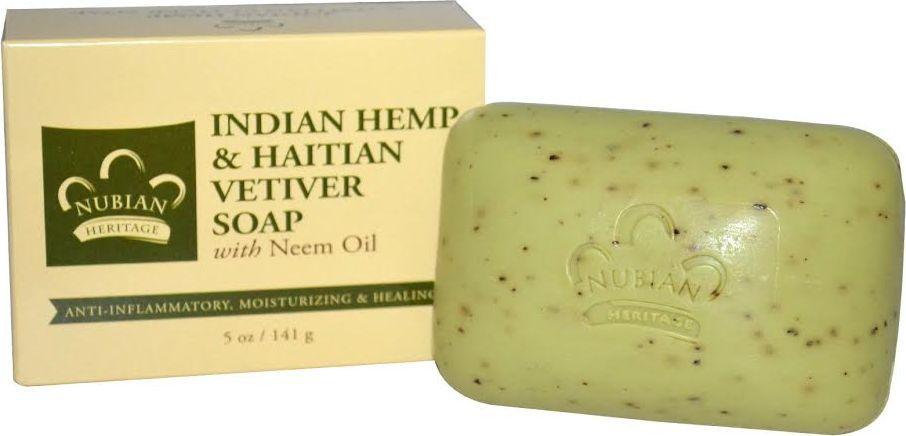 Nubian Heritage Мыло индийская конопля и гаитянский ветивер с маслом ним, 141 г запорожец heritage za008busrp82