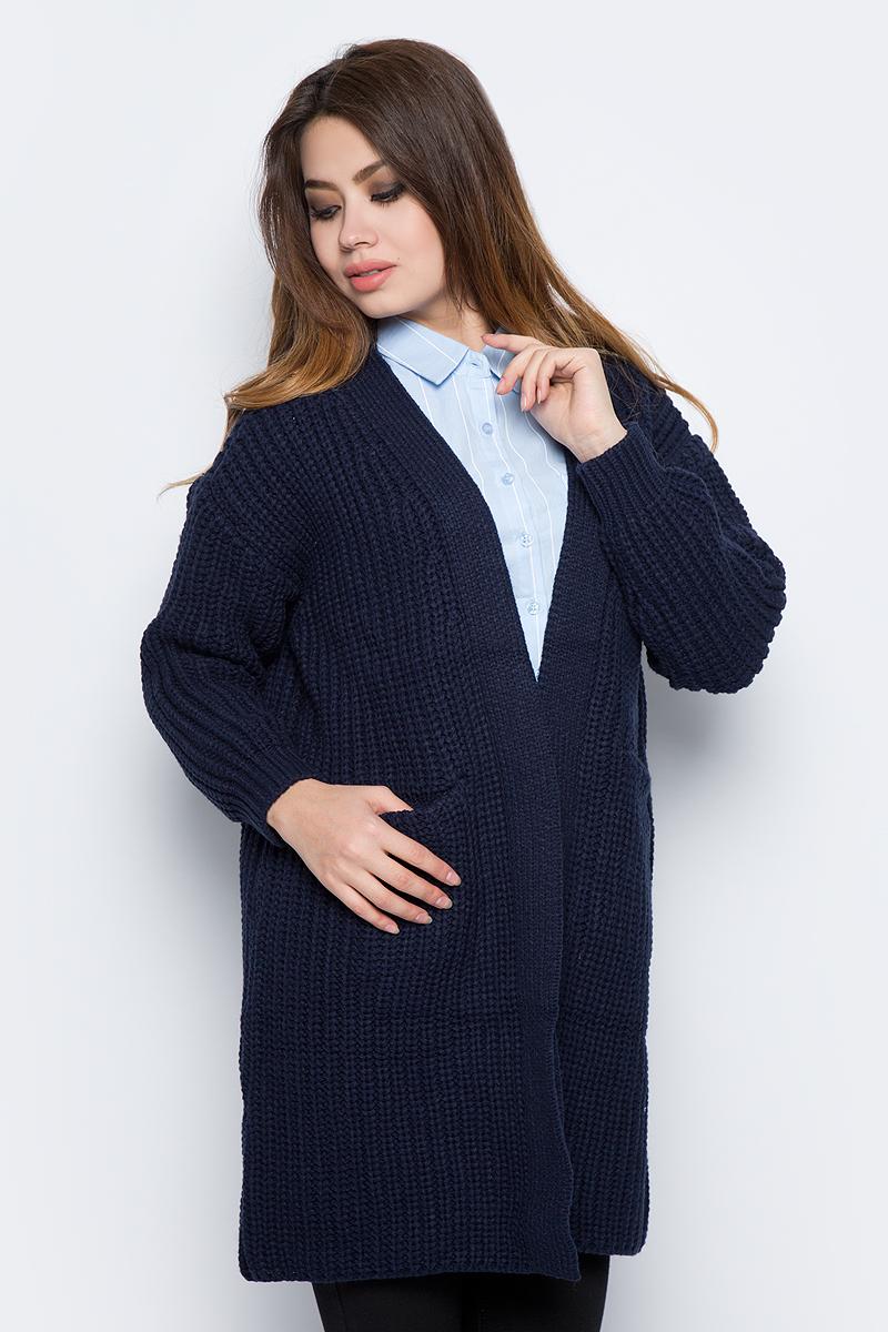 Кардиган женский Bello Belicci, цвет: темно-синий. КА6_9. Размер S/M (42/46) рубашка женская bello belicci цвет темно красный sa14 40 размер xl 48