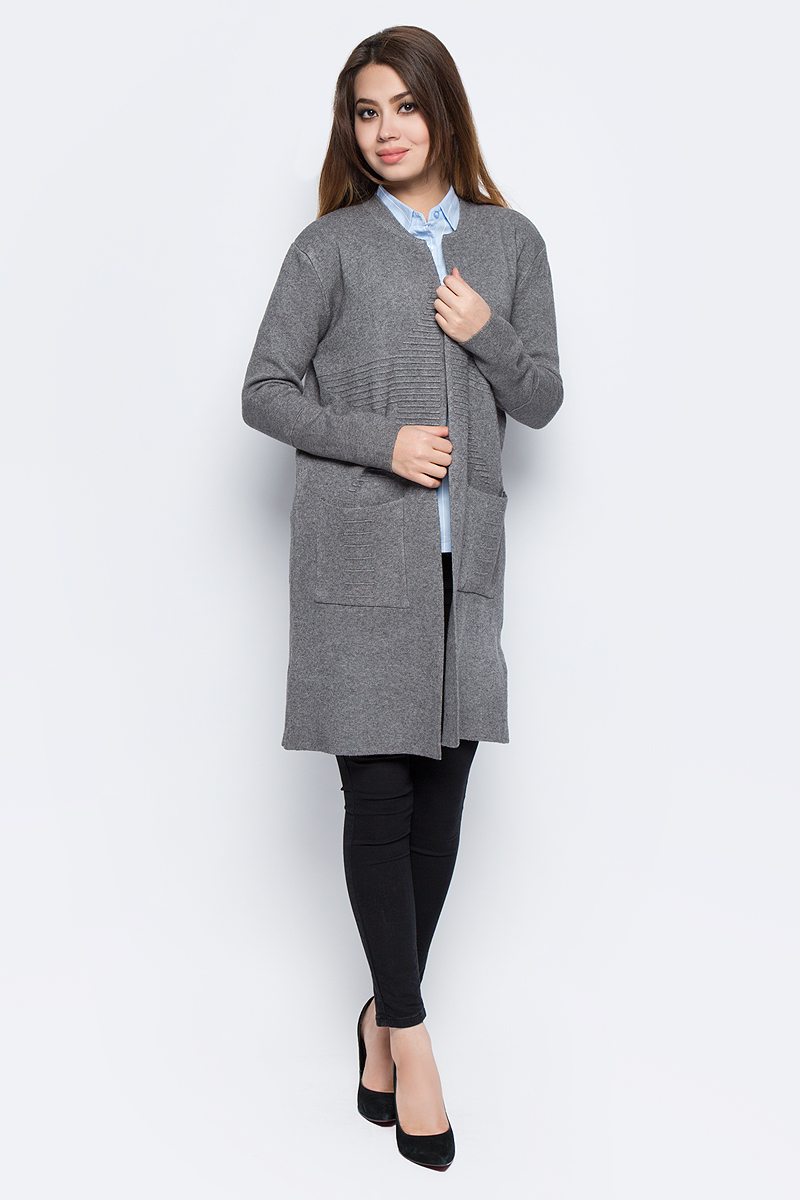 Кардиган женский Bello Belicci, цвет: серый. КА9_2. Размер S/M (42/46)КА9_2