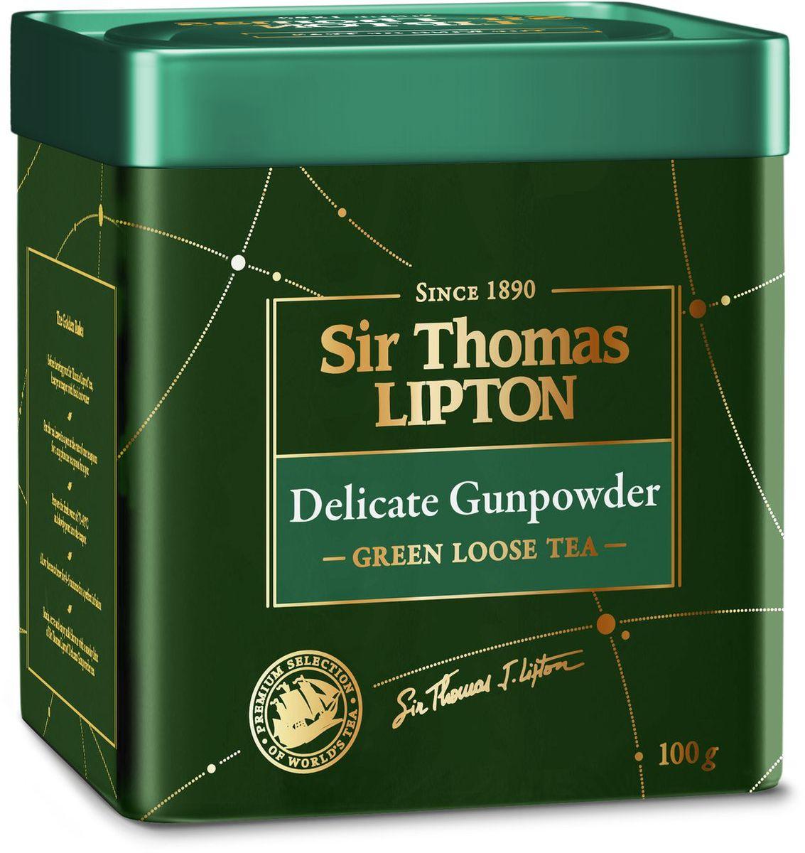 Sir Thomas Lipton Delicate Gunpowder чай зеленый листовой, 100 г greenfield чай greenfield классик брекфаст листовой черный 100г