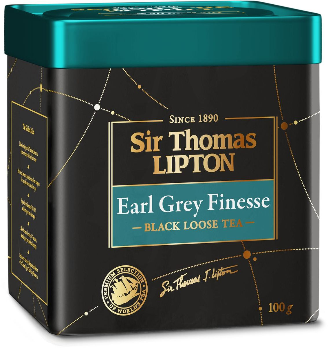 Sir Thomas Lipton Earl Grey Finesse чай черный ароматизированный, 100 г greenfield royal earl grey черный листовой чай 250 г