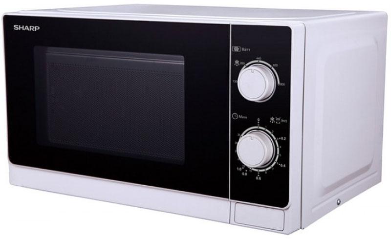 Sharp R-2000RW, Black White микроволновая печьR-2000RWМикроволновая печь Sharp R-2000RW - это стильная модель, которая станет прекрасным дополнением на вашей кухне. Данный прибор имеет механический тип управления, которое осуществляется с помощью поворотных переключателей на удобно расположенной панели. Дверца открывается при помощи кнопки. Объем камеры позволяет размещать достаточно большое количество продуктов. Внутри камера освещена. Имеется 5 уровней мощности.Благодаря своей многофункциональности, устройство может быстро разогреть обед и разморозить продукты.