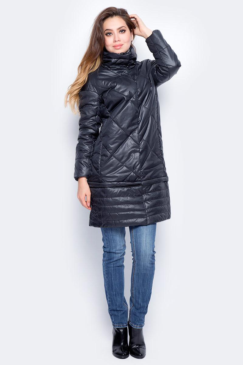 Куртка женская Baon, цвет: черный. B037532_Black. Размер XL (50)B037532_BlackУдлиненная стеганая куртка Baon выполнена из прочного материала. Наполнитель - полиэстер. Модель с воротником-стойкой застегивается на застежку-молнию и кнопки. Изюминка этой модели - съемная нижняя часть, которая крепится на молнии и позволяет менять длину изделия. Куртка дополнена двумя втачными карманами на молниях. Такая куртка займет достойное место в вашем гардеробе.
