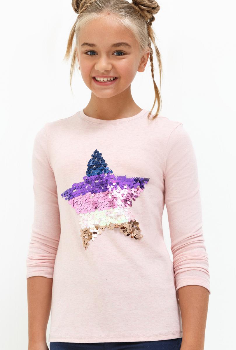 Лонгслив для девочки Acoola Tango, цвет: светло-розовый. 20210100144. Размер 16420210100144Лонгслив для девочки Acoola выполнен из хлопка и эластана. Модель с круглым вырезом горловины и длинными рукавами.