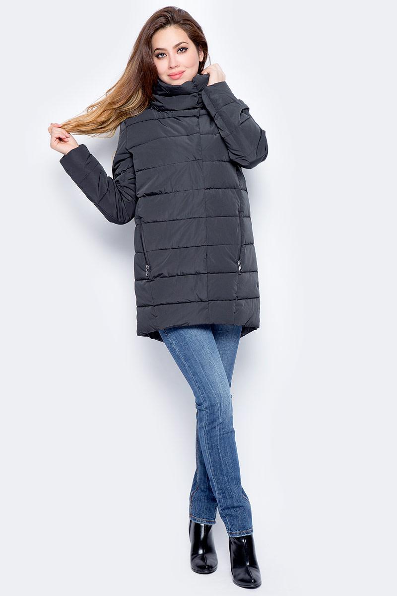 Куртка женская Baon, цвет: черный. B037568_Black. Размер XL (50)B037568_Black