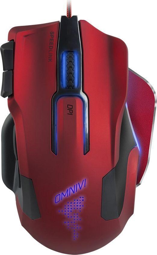 Speedlink Omnivi, Red Black игровая мышьSL-680006-BKRDИгровая мышь Omnivi объединяет в себе функциональность, комфорт и высокую точность. Кроме того, привлекательная цветная подсветка, прочный алюминиевый каркас, четыре кнопки с размещением под большой палец и экстремально точный оптический сенсор на 12000 dpi поднимают Omnivi до абсолютно нового уровня игровых устройств. Десять программируемых кнопок дают ей неоспоримые преимущества: Используйте обширные возможности программирования, чтобы подготовить свой собственный игровой стиль для каждой конкретной игры. Воспользуйтесь созданными самостоятельно сложными макросами, которые вызываются всего одним нажатием кнопки, чтобы сражаться и побеждать в ближнем или дальнем бое, быстро менять оружие или моментально вызывать заклинания.Как выбрать игровую мышь. Статья OZON Гид