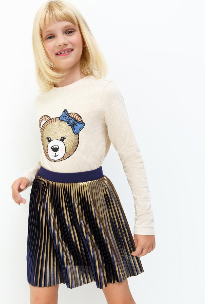 Лонгслив для девочки Acoola Boogie, цвет: бежевый. 20210100147. Размер 15220210100147Лонгслив для девочки Acoola выполнен из хлопка и эластана. Модель с круглым вырезом горловины и длинными рукавами.
