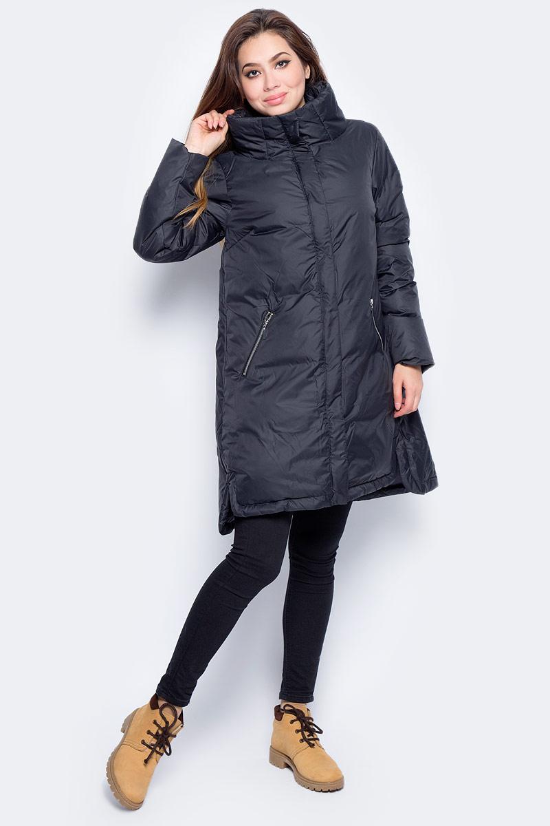 Пуховик женский Baon, цвет: черный. B007584_Black. Размер XL (50) джемпер женский baon цвет серый меланж b166521 размер xl 50